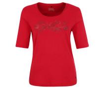 T-Shirt, 1/2 Arm, Print, Rot