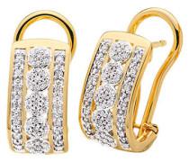 Halbcreolen Diamant Gold 585