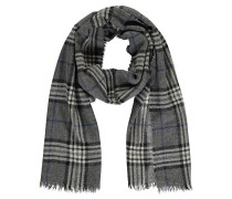 Schal, Wolle, Tartan-Muster, Fransen