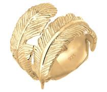 Ring Wickelring Feder 925 Sterling Silber Madita