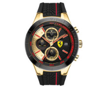 Herrenuhr, RED REV EVO Chronograph, goldfarben/schwarz, 0830298