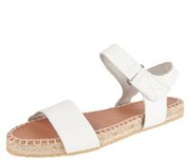 Sandalen, Leder, Bast-Sohle, Klettverschluss