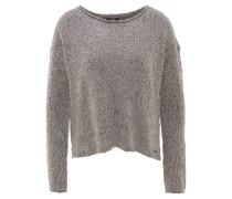Pullover, Rollsaum, Metallic-Garn, meliert