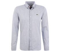 Hemd, Skinny-Fit, Karomuster, Kent-Kragen, für Herren, Blau
