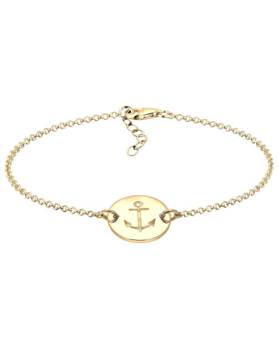 Armband Anker Plättchen Trend 925er Sterling Silber Ancre