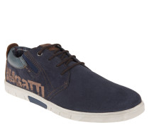 Sneaker, Veloursleder, Glattleder, Logo-Print