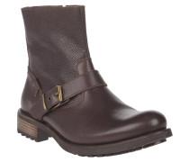 Boots, Kalbsleder, Zierschnalle, Reißverschluss, Braun