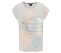 T-Shirt, abstrakter Print, Stickerei