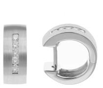 Platin Creolen mit Diamant, Platin 950
