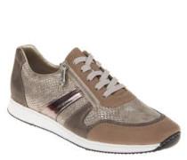 Sneaker, Animal-Design, Schnürung, Reißverschluss