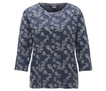 Shirt, 3/4 Arm, geometrisches Muster, Baumwollmix