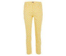 Hose, Regular Fit, Zitronen-Print, Gelb