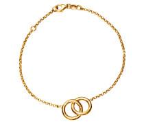 Armband mit 2 Ringen Gelbgold 375