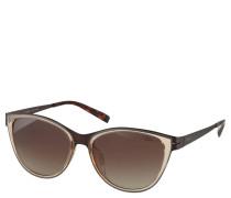 Sonnenbrille, geschwungene Form, Metallgestell