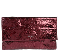 "Clutch ""Cadea"", Metallic-Design, Crinkle-Effekt, Rot"