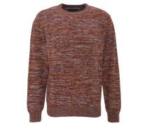 Pullover, Rundhals, Bündchen, reine Baumwolle, Rot