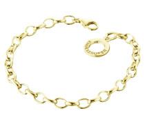 Armband für Charms vergoldet 19,5cm