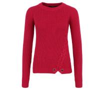 """Pullover """"Vicky"""", Ripp-Strick, seitliche Schnürung, Pink"""