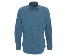 Hemd, modern fit, Karo-Muster, Kent-Kragen, Baumwolle
