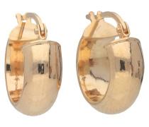 Creolen, Gold 375, Glanz-Optik