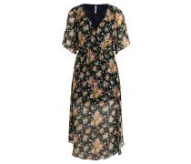 Maxikleid, Chiffon, floraler Allover-Print, Blau