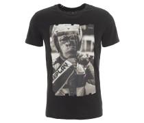 T-Shirt, Front-Print, Baumwolle, Schwarz