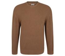 Pullover, Große Größen, reine Baumwolle, Flecht-Optik, Braun