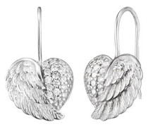 Ohrhänger Herz-Flügel Silber ERE-HEARTWING-ZI