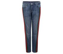 "Jeans ""Masha"", Relaxed Fit, Bordüre, Used-Effekte"