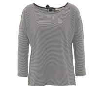 Shirt, 3/4-Arm, gestreift, Schleife, Weiß