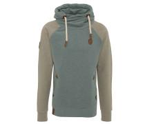 Sweatshirt, zweifarbig, Kapuze