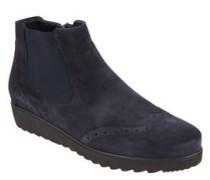 Chelsea-Boots, Veloursleder, Loch-Muster