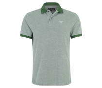 Poloshirt, Piqué-Muster, Logo-Stickerei, Grün