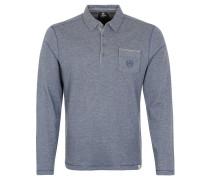 Poloshirt, Baumwolle, Brusttasche, Grau