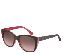Sonnenbrille, grafische Prägung, farbige Kanten