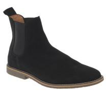 Chelsea Boots, uni, Zugschlaufe, Schwarz