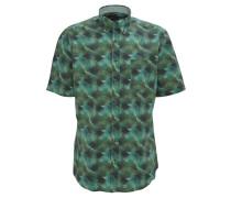 Freizeithemd, Modern Fit, Hawaii-Print, Grün