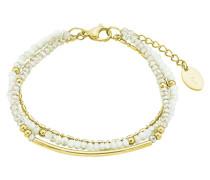Armband mit Glassteinen 9292141 IP Gold Edelstahl