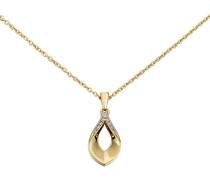 Diamant-Anhänger mit Kette Gold 375