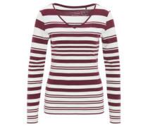 Langarmshirt, V-Ausschnitt, gestreift, Bio-Baumwolle