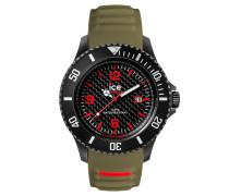ICE carbon black & khaki Herrenuhr CA.3H.BKA.B.S.15