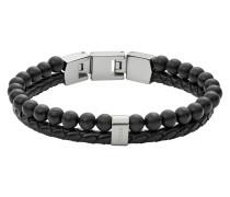 Armband, JF02763040, Schwarz|Silber