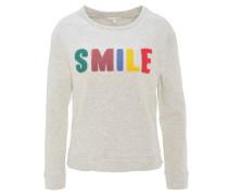 Sweatshirt, Baumwolle, Stickerei, Rundhalsausschnitt, Grau