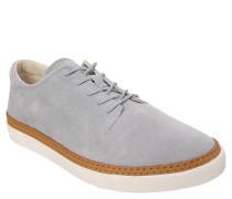 Sneaker, zweifarbig, Leder, Grau