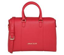 Handtasche, Kunstleder, Saffiano-Optik, Rot