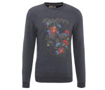 Sweatshirt, Baumwoll-Mix, Front-Print, Blau