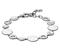Armband Edelstahl mit weißem Glas SKJ0577040