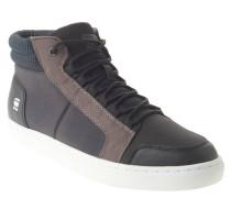Sneaker, Materialmix, Marken-Logo, Schwarz