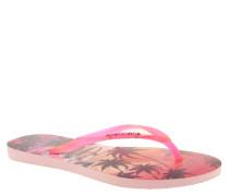 "Zehentrenner ""Slim Paisage CF"", Palmen-Muster, Pink"