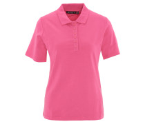 Polo-Shirt, Strass-Logo, uni